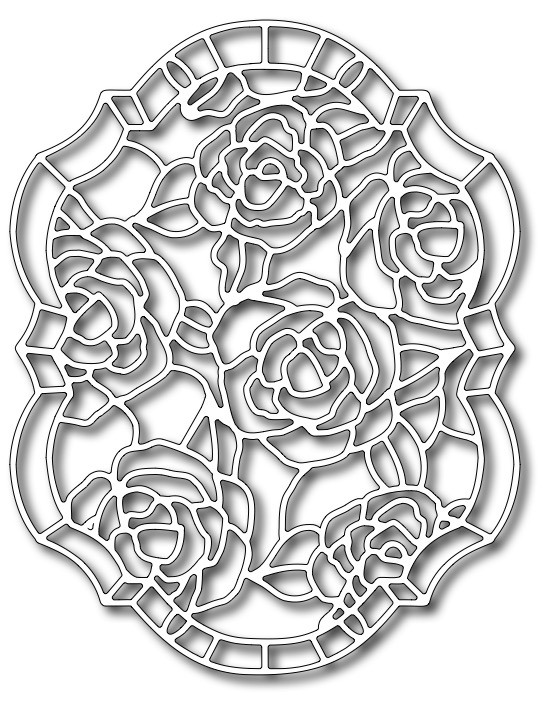 Precision Die - Roses Stained Glass