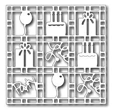 Precision Die - Birthday Grid