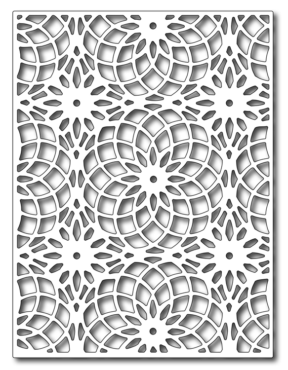 Precision Die - Floral Eye Dazzler Card Panel