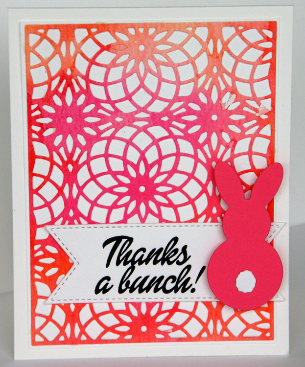 Frantic Stamper Precision Die - Floral Eye Dazzler Card Panel