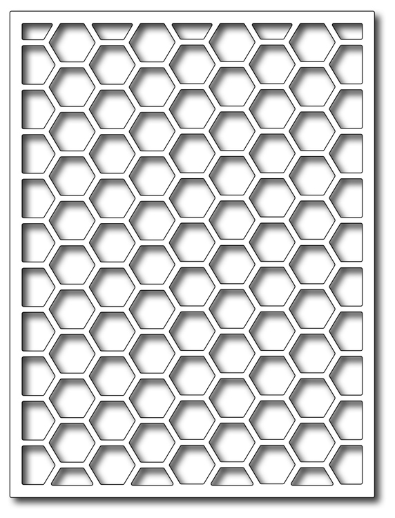 Precision Die - Hexagon Card Panel