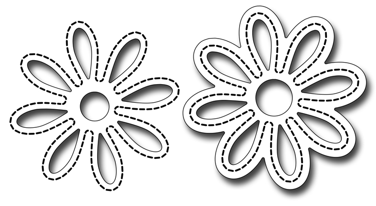 Precision Die - Stitched Daisy Pair