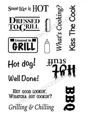 Clear Stamp Set - Dressed To Grill