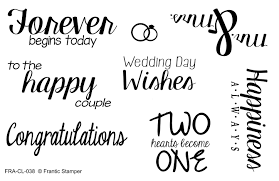 Clear Stamp Set - Wedding Wishes