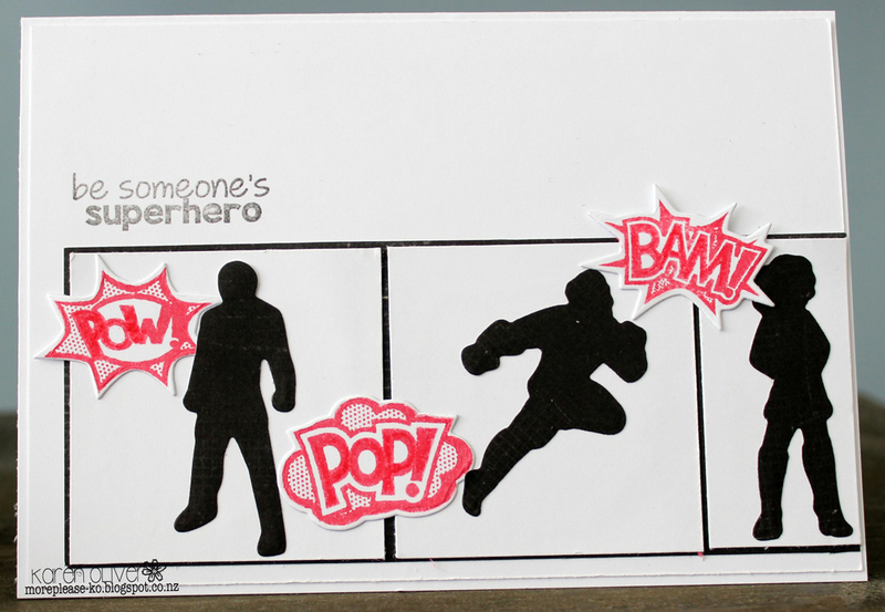 Ecstasy Crafts Frantic Stamper Clear Stamp Set - Superheroes