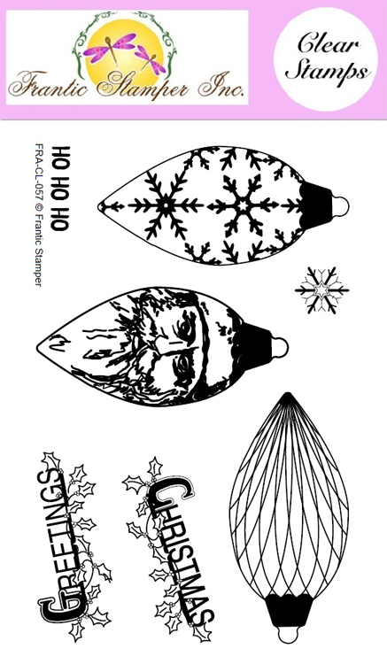 Clear Stamp Set - Pinecone Ornaments