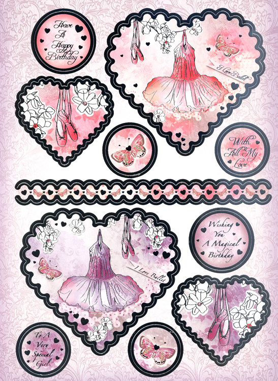 Ecstasy Crafts Gorgeous Girls Luxury Topper Sets - I Love Ballet