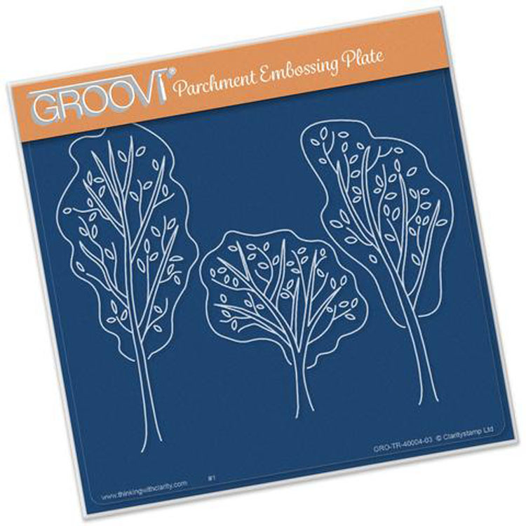Groovi Trees (from The Starter Kit) A5 Square Plate