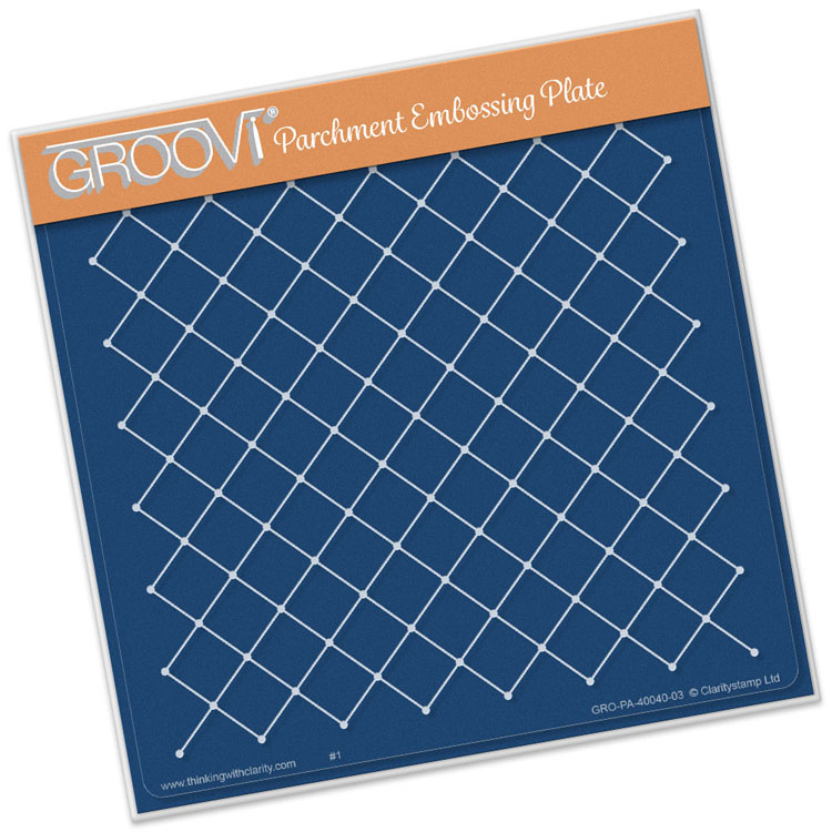 Groovi Netting Pattern A5 Square Plate