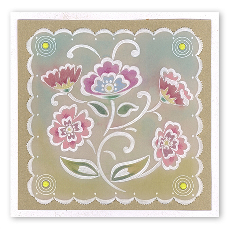 Ecstasy Crafts Lace Flowers A5 Square Plate