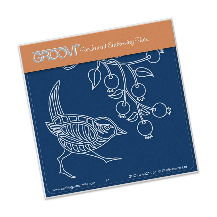 Groovi Wren & Rose Hips A6 Baby Plate