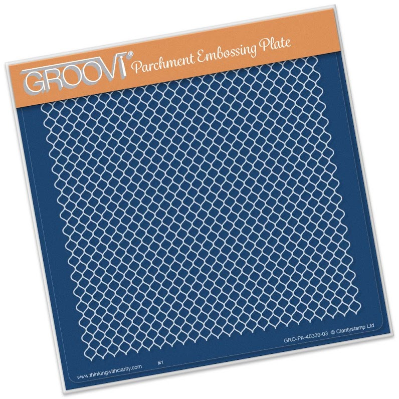 Groovi Lace Netting Plate A5 Sq