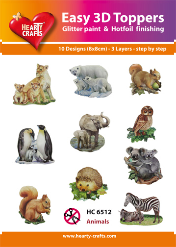 Easy3D Precut Toppers - Animals