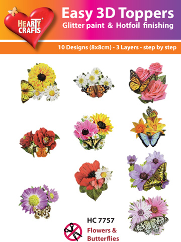 Easy3D Precut Toppers - Flowers & Butterflies