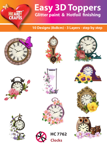 Easy3D Precut Toppers - Clocks