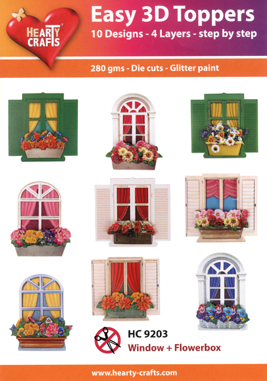 Easy 3D Toppers: Window & Flowerboxes