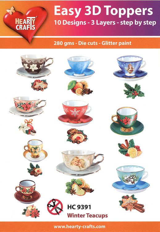 Ecstasy Crafts Easy 3D Toppers: Winter Teacups