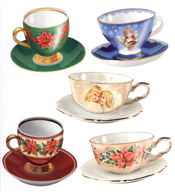 Hearty Crafts Easy 3D Toppers: Winter Teacups