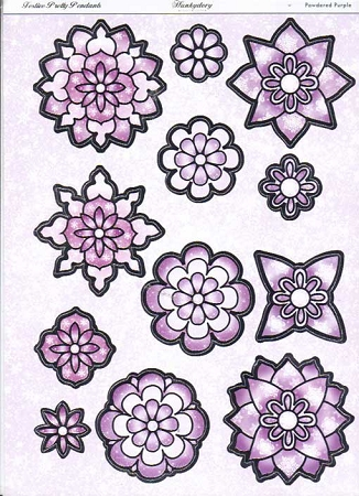 Ecstasy Crafts Hunkydory Festive Pretty Pendants Collection Powdered Purple