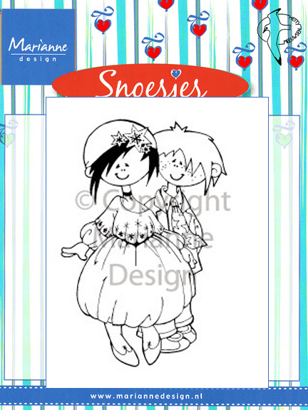 Marianne Design Clear Stamps - Snoesjes - Party Dress