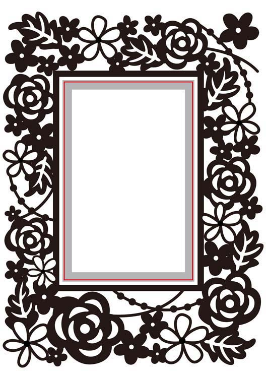 Ecstasy Crafts Nellie's Choice - Embossing/die Cut Folder Rectangle Floral