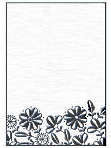 Ecstasy Crafts Embossing Folders - Flower Border 1
