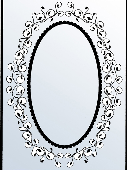 Nellie's Choice Embossing Folders - Oval Frame 1