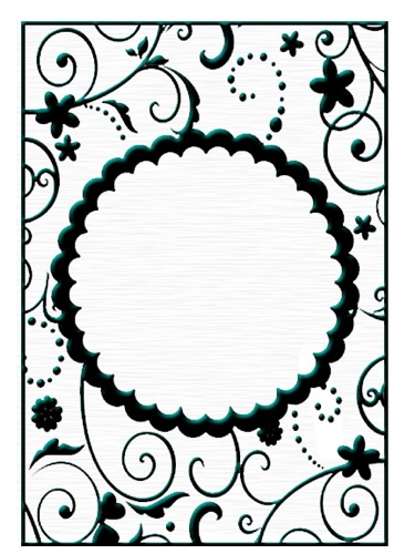 Ecstasy Crafts Embossing Folders - Round Frame 1