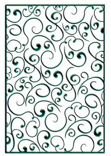 Nellie's Choice Embossing Folders - Swirls 1