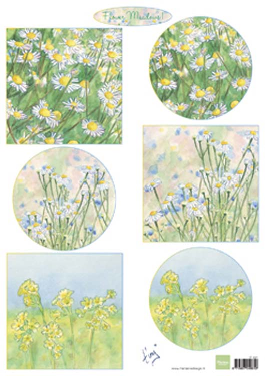 Ecstasy Crafts Marianne Design Cutting Sheet Tiny's Flower Meadow 1