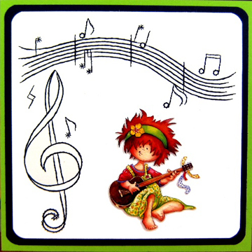 Kc Embroidery Pattern - Musical Notes
