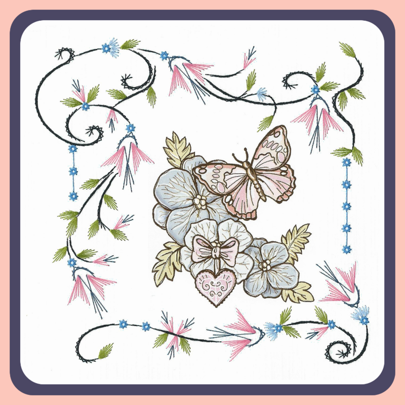 Embroidery Pattern - Flower Frame