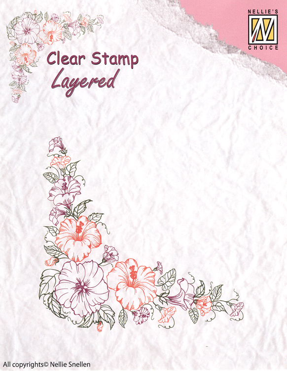 - Clear Stamp Layered - Flower Corner 1