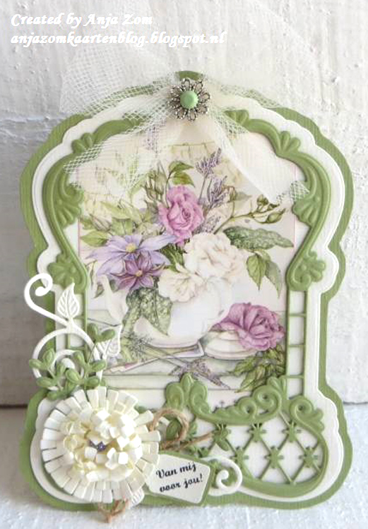Ecstasy Crafts Marianne Design: Creatables Dies - Anja's Label Frame & Flowers