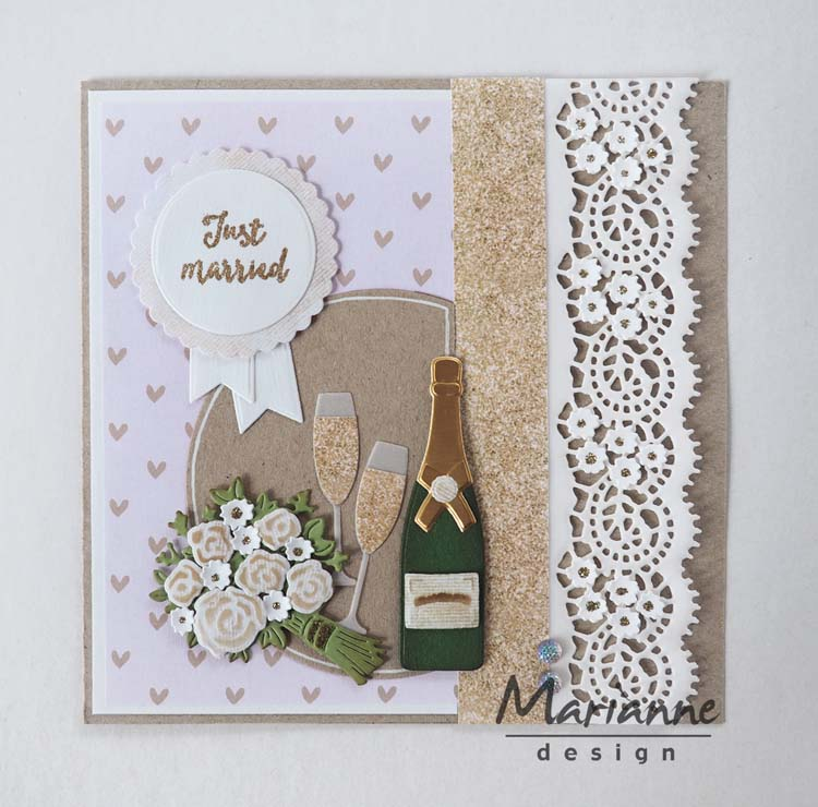 Ecstasy Crafts Marianne Design Creatables Lace Border (s)