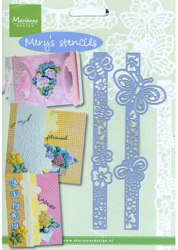 Stencils Mery's - Butterflies And Bees