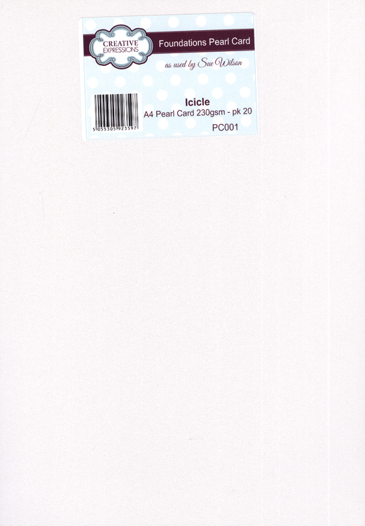 Creative Expressions Foundation A4 Pearl Cardstock 230Gsm Pk 20 - Iclcle