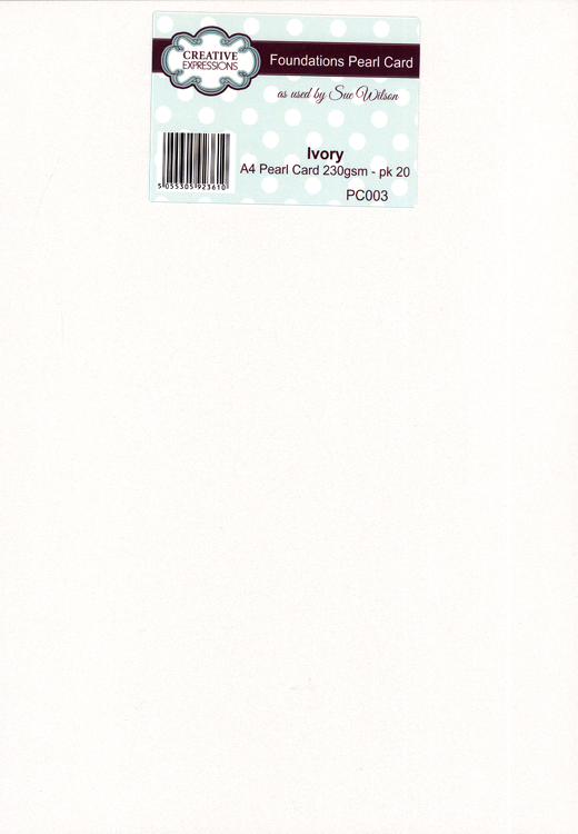 Creative Expressions Foundation A4 Pearl Cardstock 230Gsm Pk 20 - Ivory