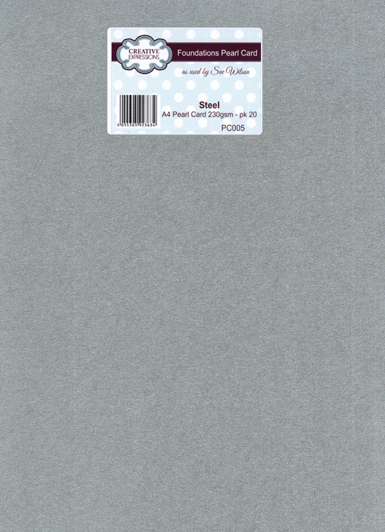 Creative Expressions Foundation A4 Pearl Cardstock 230Gsm Pk 20 - Steel