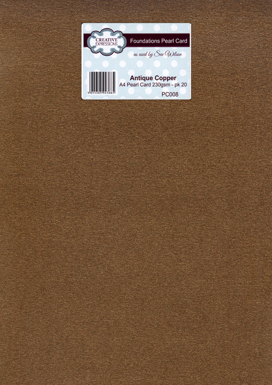 Creative Expressions Foundation A4 Pearl Cardstock 230Gsm Pk 20 - Antique Copper