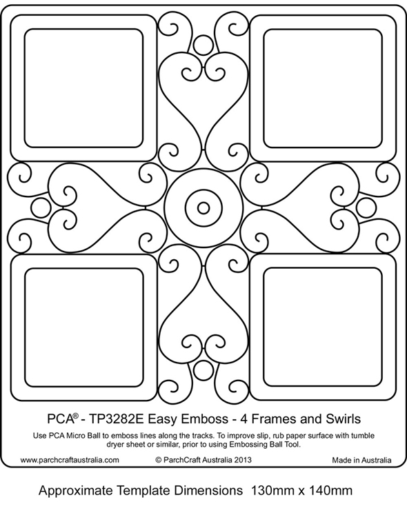 ParchCraft Australia Easy Emboss 4 Frames And Swirls