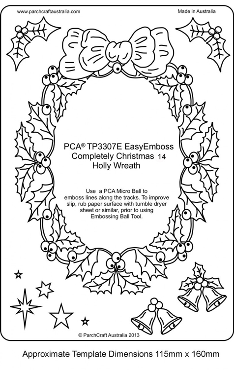Easyemboss Completely Christmas 14 - Holly Wreath