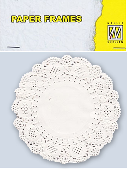 "Paper Lace Doily Frames - Round 11.5 Cm/ 5"" In Diameter"