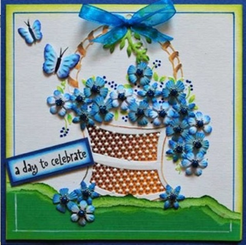 Pontura Card Set -3 Cards/envelopes - Basket Of Flowers