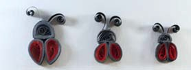 Ecstasy Crafts Quilling Template - Lady Bug Set