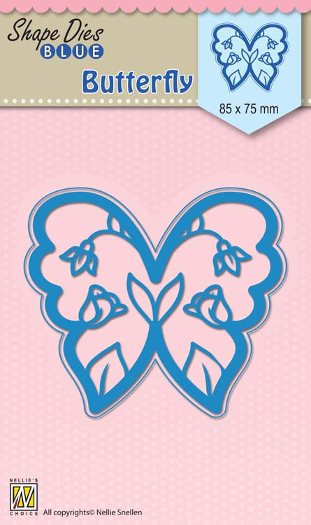 Nellie's Choice - Shape Die Blue Easter Butterfly