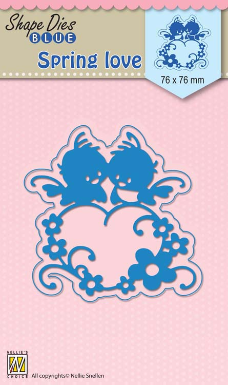 Nellie's Choice - Shape Die Blue Spring Love