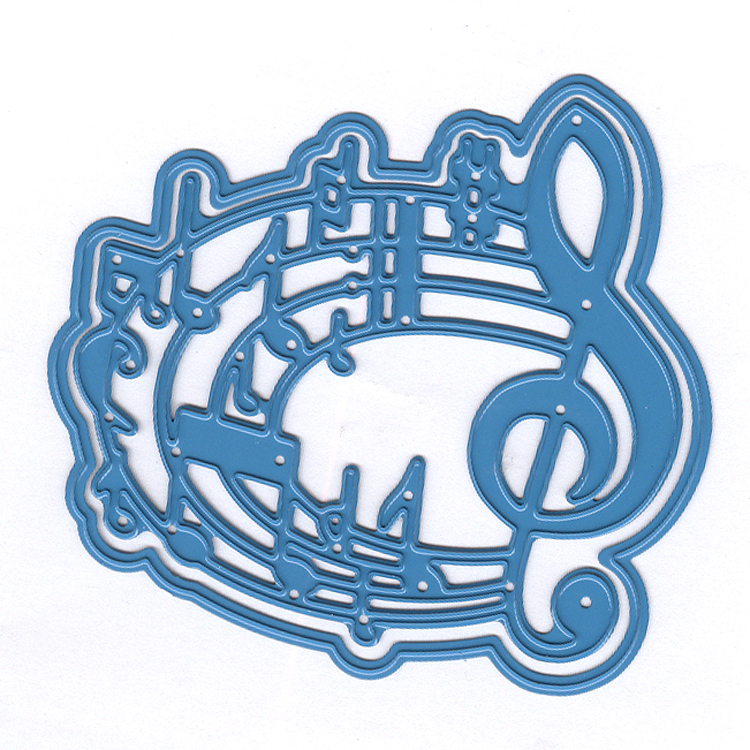 Nellie's Choice - Shape Die Blue Music Notes