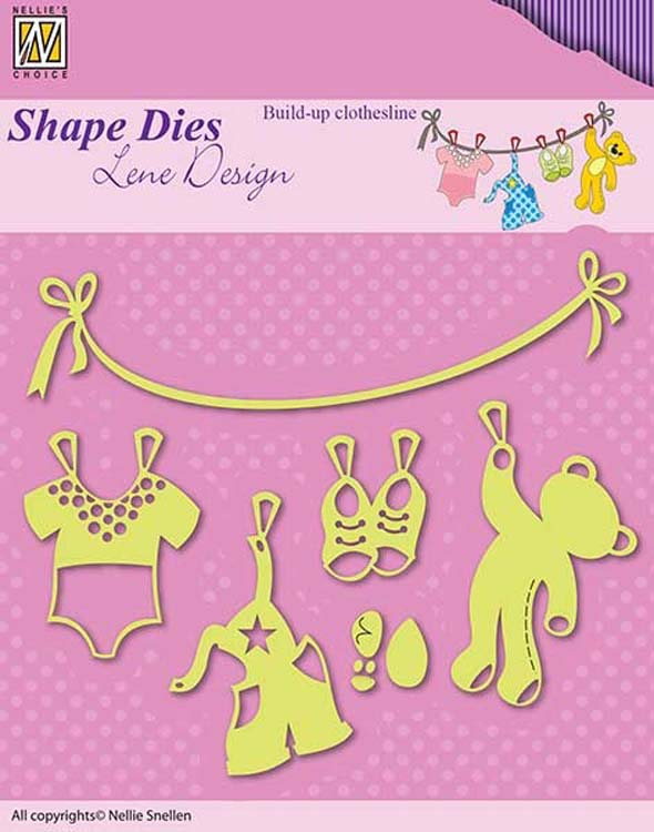Nellie's Choice - Shape Die Build-up Clothesline