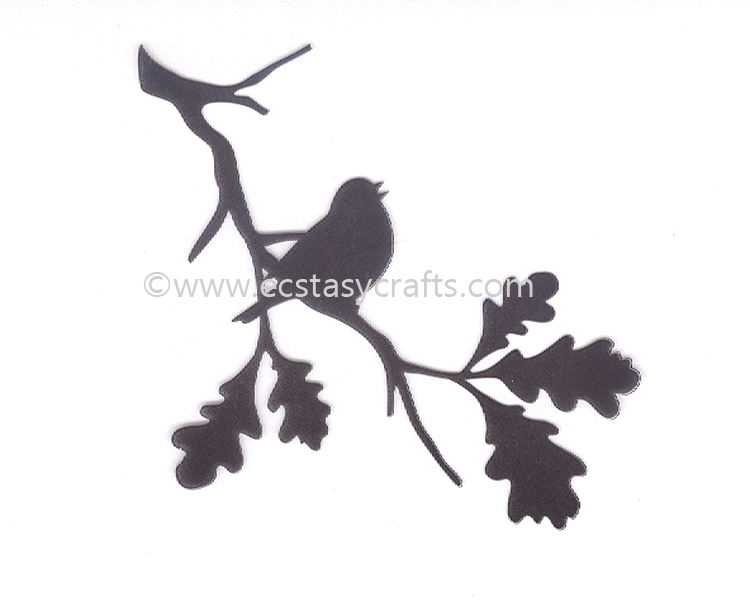 Ecstasy Crafts Silhouette Clear Stamp - Birdsong 2